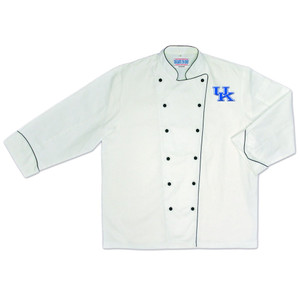 NCAA Kentucky Wildcats Premium Chef Coat Professional Style Mens White