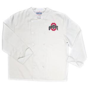 NCAA Ohio State Buckeyes Classic Chef Coat Professional Style Mens White