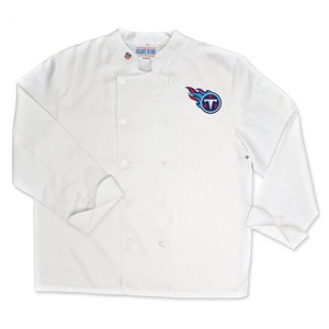 NFL Tennessee Titans Classic Chef Coat Professional Style Tailgate White