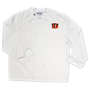 NFL Cincinnati Bengals Classic Chef Coat Professional Style Mens White