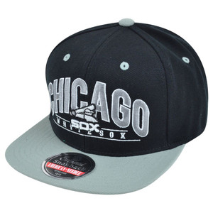 MLB American Needle Chicago White Sox Archer Snapback Flat Brim Baseball Hat Cap