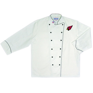 NFL Arizona Cardinals Premium Chef Coat Professional Style Tailgate White