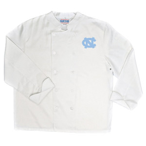 NCAA North Carolina Tar Heels Classic Chef Coat Professional Style White
