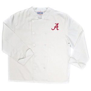 NCAA Alabama Crimson Tide Classic Chef Coat Professional Style Mens White