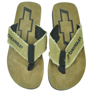 Chevrolet Chevy GM Motors Flip Flops Beach Adult Footwear Thong Sandals