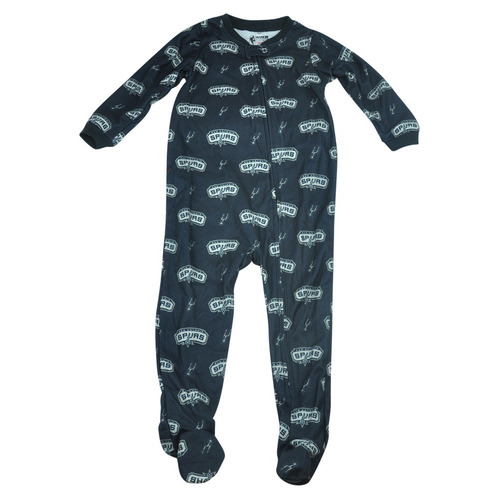 Nba Unk San Antonio Spurs Toddler Footed Pajamas Bodysuit Zipper
