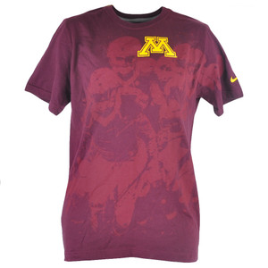 NCAA Minnesota Golden Gophers Nike Collage Burgundy Mens Tshirt Shirt Tee