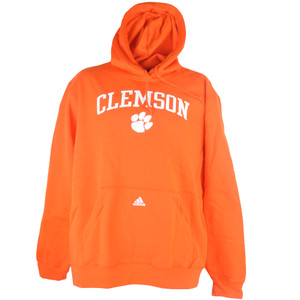 NCAA Adidas Clemson Tigers University Fleece Hoodie Orange Mens Pullover