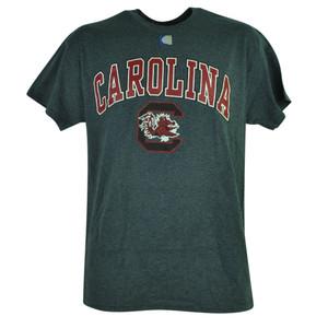 NCAA South Carolina Gamecocks End Zone Short Sleeve Tshirt Grey Tee Mens Shirt