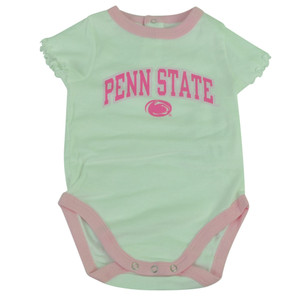 NCAA Penn State Nittany Lions Bodysuit Creeper Baby Infant Girl Sparrow White
