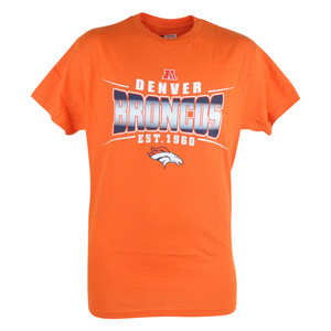 NFL Denver Broncos Sully Men EST 1960 Football Tshirt Orange Tee Fan Zone