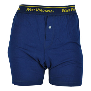 NCAA West Virginia Mountaineers Mens Boxer Shorts Under Wear Briefs Navy