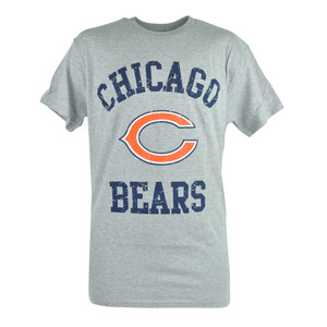NFL Chicago Bears Star Power Distressed Tshirt Tee Football Grey Shirt