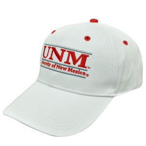 HAT CAP NEW MEXICO UNM LOBOS SNAPBACK RETRO BAR NCAA LICENSED WHITE RED SILVER