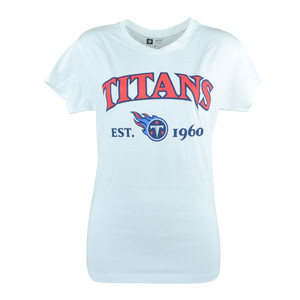 NFL Tennessee Titans Commissioner Women Ladies White Football Tshirt Tee