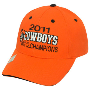 2011 Cowboys Big 12 Champions Oklahoma State Velcro Twill Cotton Hat Cap NCAA