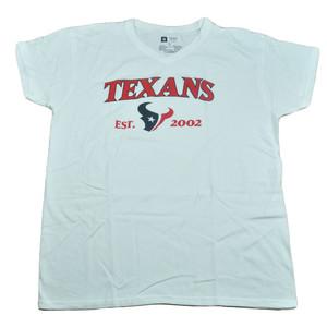 NFL Houston Texans Jabra Women Ladies Football Tshirt White VNeck Tee