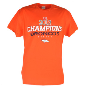 NFL Denver Broncos Offside 2013 Champions Mens Tshirt Champs Tee Orange