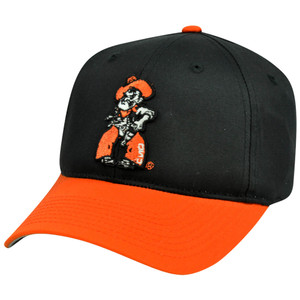 NCAA Oklahoma State Cowboys Mascot Logo Adult Small Adjustable Velcro Hat Cap
