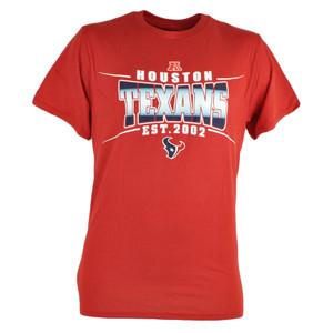 NFL Houston Texans Sully Mens EST 2002 Football Tshirt Red Tee Fan Shirt