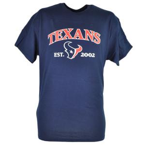 NFL Houston Texans Commissioner EST 2002 Football Tshirt Tee Men Navy Blue