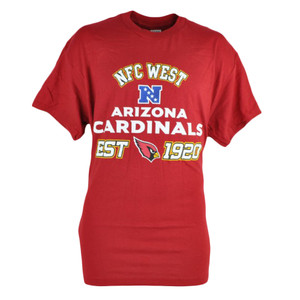 NFL Arizona Cardinals NFC West Maroon Tshirt In Tin Gift Set Football Tee