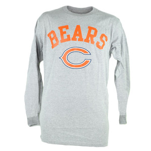 NFL Chicago Bears Dual Threat Long Sleeve Grey Mens Football Tshirt Tee