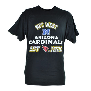 NFL Arizona Cardinals NFC West Black Tshirt In Tin Gift Set Football Tee