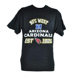 NFL Arizona Cardinals NFC West Black Tshirt In Tin Gift Set Football Tee