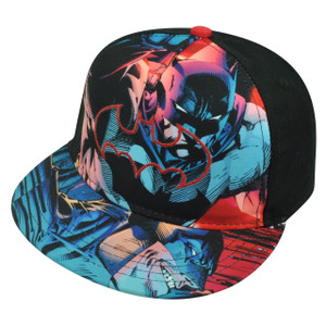 Batman Hero Youth Snapback Flat Bill Cartoon Comic Book Warner Bros Hat Cap