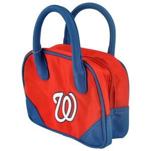 MLB Washington Senators Mini Bowler Hand Bag Two Tone Accessories Baseball Women