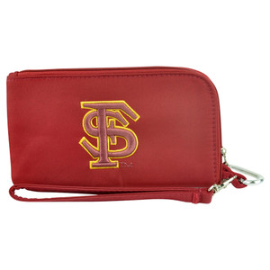 NCAA Florida State Seminoles Clip On ID Wallet Wristlet Phone Case Ladies Womens