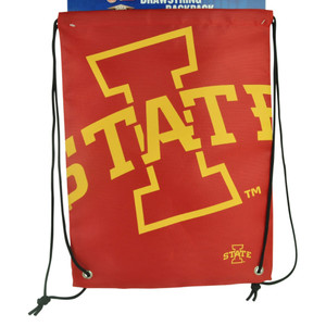 NCAA Iowa State Cyclones Drawstring Back Pack Book Bag School Red Gym Travel