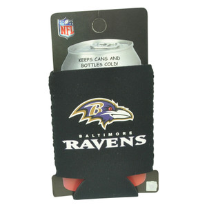 NFL Baltimore Ravens Can Coozie Beer Sleeve Drink Cooler Coolie Beverage Black