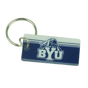NCAA Brigham Young Cougars BYU House Work Key Chain Ring Navy Blue Novelty Sport