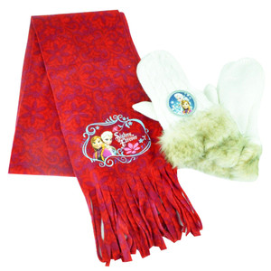 Disney Frozen Anna Elsa Youth Girls Scarf & Mittens Combo Pack Mitts Winter
