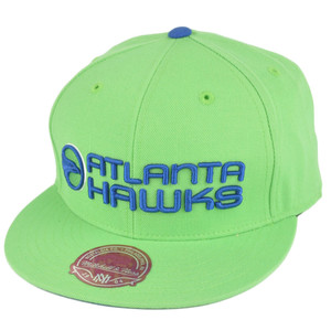 NBA Mitchell Ness TK40 Atlanta Hawks Lime Alternate Fitted Hat Cap