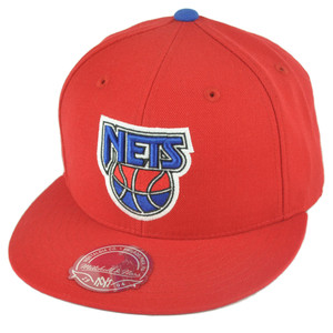 NBA Mitchell Ness TK40 New Jersey Nets Red Fitted Alternate Hat Cap