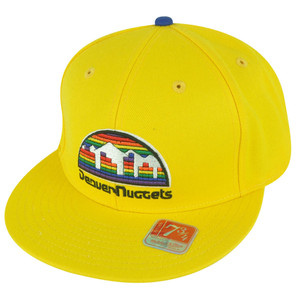 NBA Mitchell Ness TK07  Denver Nuggets Team Second Fitted Hat Cap