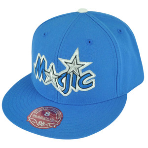 NBA Mitchell Ness TK07  Orlando Magic Blue Team Second Fitted Hat Cap