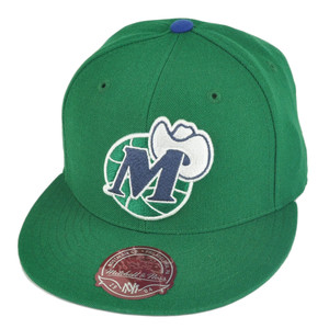 NBA Mitchell Ness TK07  Dallas Mavericks Green Team Second Fitted Hat Cap