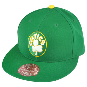NBA Mitchell Ness Boston Celtics Green Fitted TK41 Alternate 2 Hat Cap