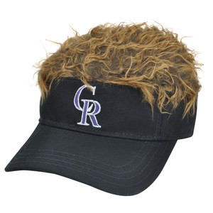 MLB Colorado Rockies Creed Flair Brown Hair Visor Adjustable Fan Velcro Hat Cap