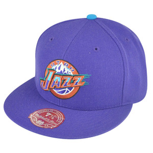 NBA Mitchell Ness Utah Jazz Purple Fitted TK41 Alternate 2 Hat Cap