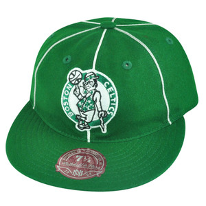 NBA Mitchell Ness Boston Celtics G024 Team Prim Wool Fitted Hat Cap