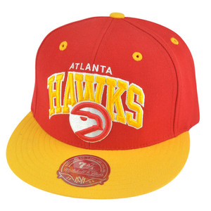 NBA Mitchell Ness Atlanta Hawks TU14 2 Tone Arch Fitted Hat Cap