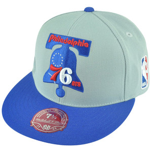 NBA Mitchell Ness Philadelphia 76ers TU92 Tone Color Fitted Hat Cap