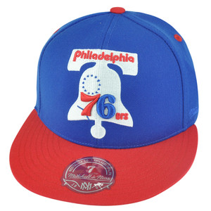 NBA Mitchell Ness Philadelphia 76ers TU20 2 Tone XL Logo Fitted Hat Cap