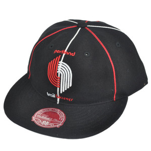 NBA Mitchell Ness Portland Trailblazers G024 Team Prim Fitted Hat Cap