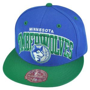 NBA Mitchell Ness Minnesota Timberwolves TU14 2 Tone Arch Fitted Hat Cap